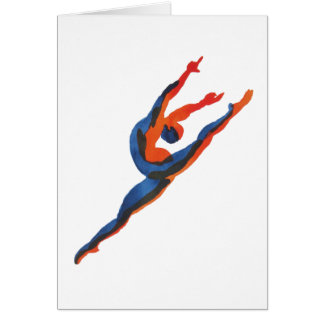Ballet Dancer Leaping Card