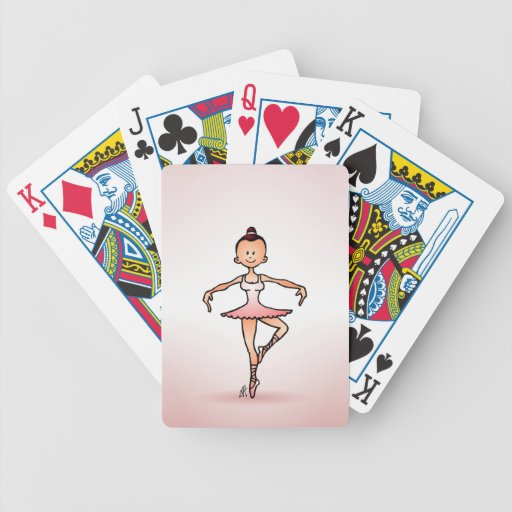Ballet dancer bicycle poker deck