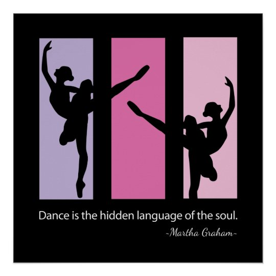 Ballet Dancer Quote Contemporary Poster