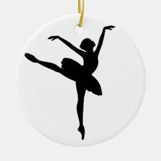 Ballet Dancer Round Ceramic Decoration
