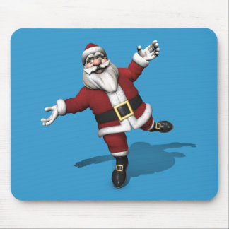 Ballet Dancer Santa Claus Mouse Pad