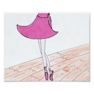 Ballet dancer satin print. 8 x 10. photograph