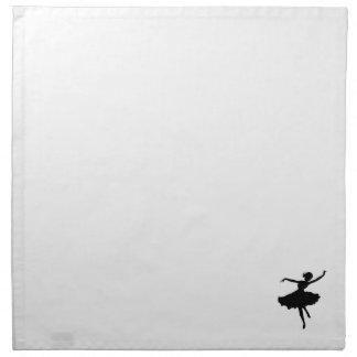 Ballet Dancer silhouette Napkin