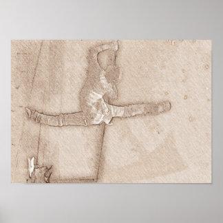 Ballet Dancer Sketch Poster