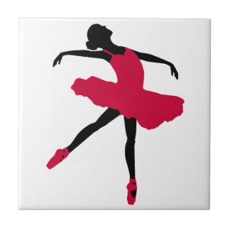 Ballet Dancer Small Square Tile