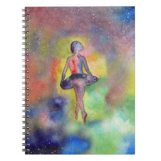 Ballet Dancer Space Watercolor Art Photo Notebook