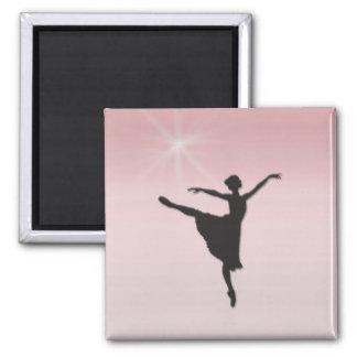 Ballet dancer square magnet