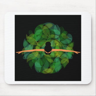 Ballet dancer top view mouse pad