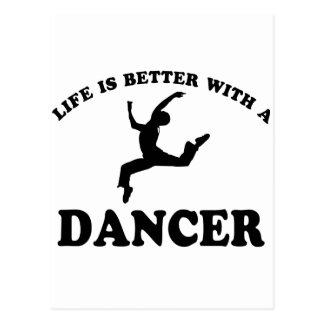 Ballet Dancer Vector Designs Postcard