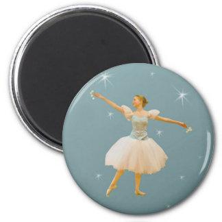 Ballet Dancer with Castanets 6 Cm Round Magnet