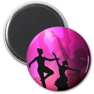 Ballet Dancers 6 Cm Round Magnet