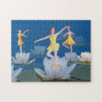 Ballet Dancers and Water Lilies