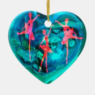 Ballet  DANCERS Ceramic Heart Decoration