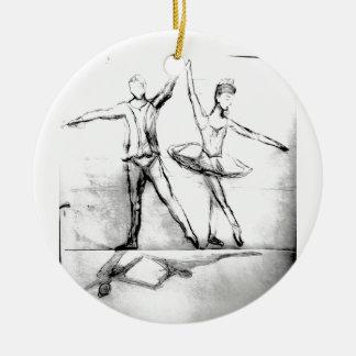 Ballet Dancers Round Ceramic Decoration