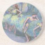 Ballet Dancers in the Wings by Edgar Degas Beverage Coaster