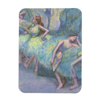 Ballet Dancers in the Wings by Edgar Degas Rectangular Photo Magnet