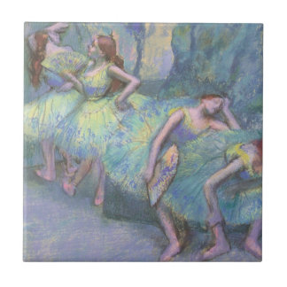 Ballet Dancers in the Wings by Edgar Degas Small Square Tile