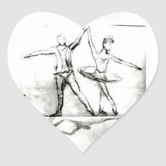 Ballet Dancers Heart Sticker