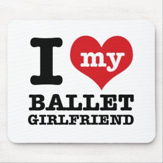 Ballet dancing designs mousepad