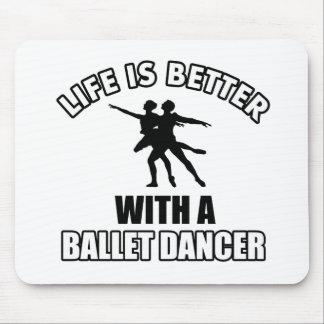 Ballet dancing designs mousepads
