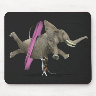 Ballet Dancing Elephant Mouse Pad