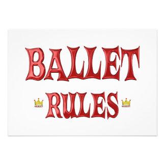 Ballet Dancing Rules Invitation