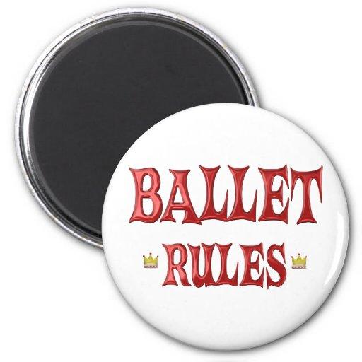 Ballet Dancing Rules Refrigerator Magnet