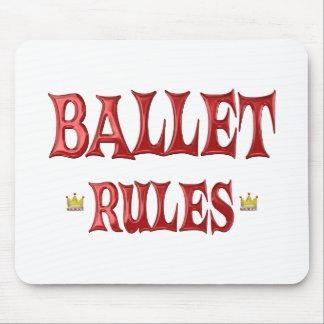 Ballet Dancing Rules Mousepads