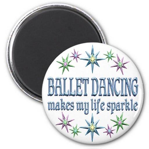 Ballet Dancing Sparkles Refrigerator Magnet
