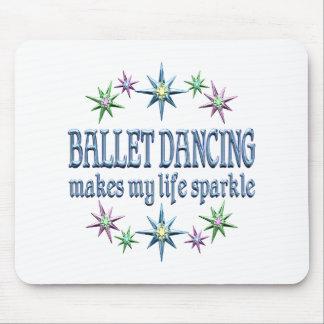 Ballet Dancing Sparkles Mouse Pad