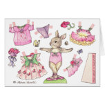 Ballet Day Paper Doll Card