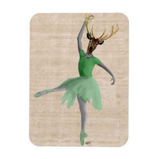 Ballet Deer in Green 2 Magnet