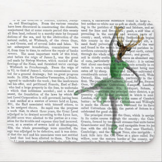 Ballet Deer in Green Mouse Pad