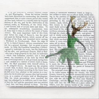 Ballet Deer in Green Mouse Pad