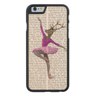 Ballet Deer in Pink Carved Maple iPhone 6 Case