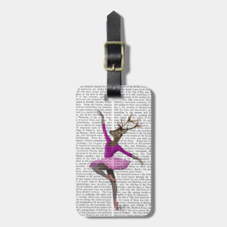 Ballet Deer in Pink Luggage Tag
