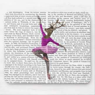 Ballet Deer in Pink Mouse Pad
