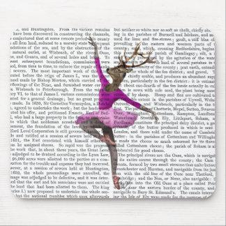 Ballet Deer in Pink Mouse Pad