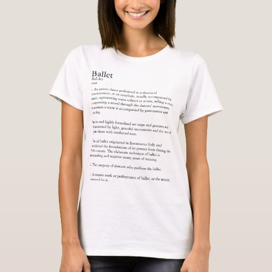 Ballet Definition Personalised T-Shirt