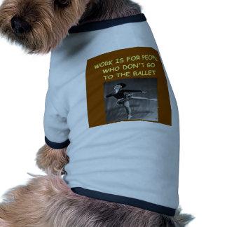 ballet pet t-shirt