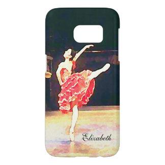 Ballet Don Quixote Red Tutu Watercolor