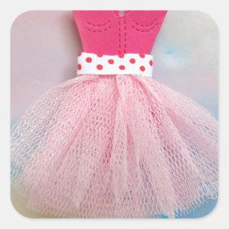 ballet dress.jpg square sticker