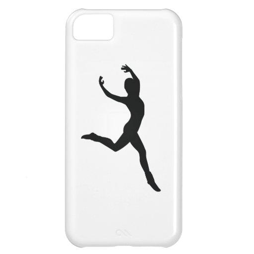 Ballet Elegant Dancing Black Silhouette Cover For iPhone 5C