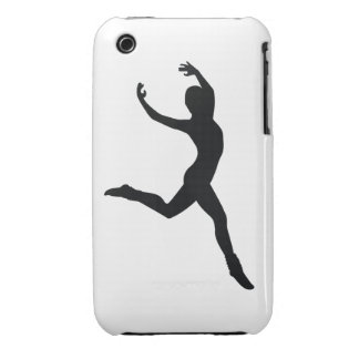 Ballet Elegant Dancing Black Silhouette iPhone 3 Cases