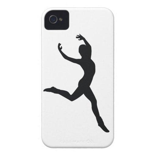 Ballet Elegant Dancing Black Silhouette iPhone 4 Cover
