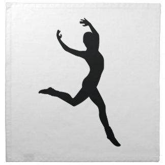 Ballet Elegant Dancing Black Silhouette Napkins