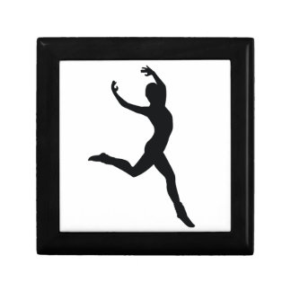 Ballet Elegant Dancing Black Silhouette Trinket Boxes