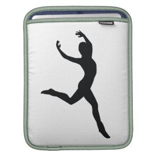 Ballet Elegant Dancing Black Silhouette iPad Sleeve