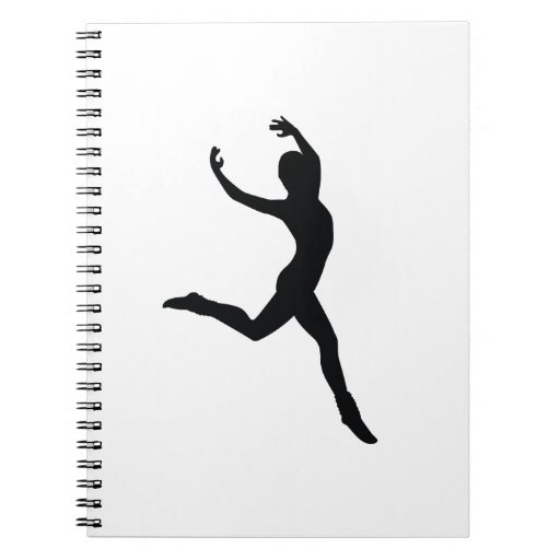 Ballet Elegant Dancing Black Silhouette Journals