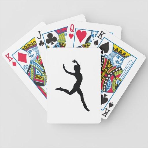 Ballet Elegant Dancing Black Silhouette Bicycle Card Deck